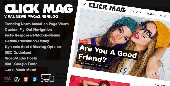 Click Mag v3.2.0 - Viral News Magazine & Blog WordPress Theme