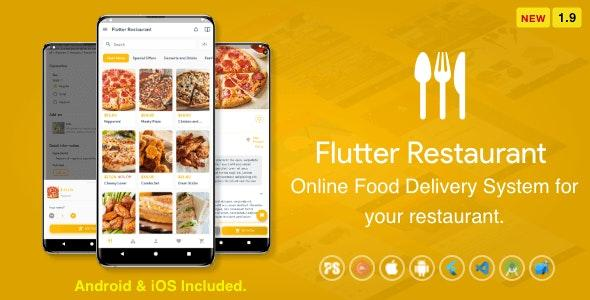 Flutter Restaurant v1.9 - Online Food Delivery System For iOS and Android