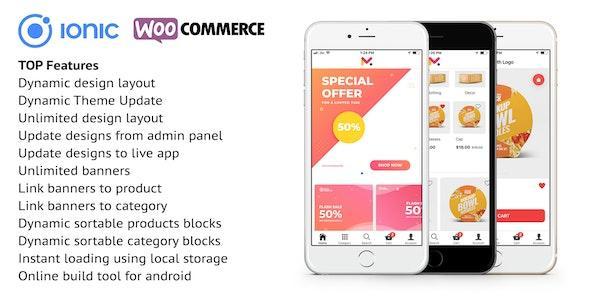 Ionic 5 App for WooCommerce v5.5